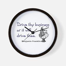 Drive thy business Wall Clock
