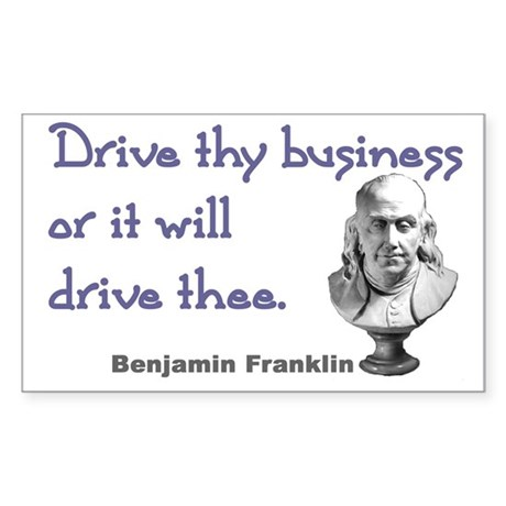 Drive thy business Rectangle Sticker