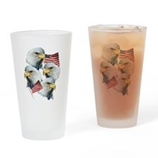Eagles and Flags Drinking Glass