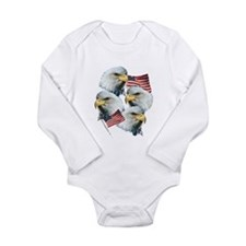 Eagles and Flags Long Sleeve Infant Bodysuit
