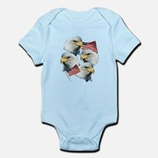 Eagles and Flags Infant Bodysuit