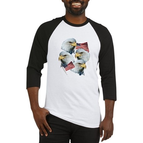 Eagles and Flags Baseball Jersey