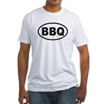BBQ Euro Oval Fitted T-Shirt