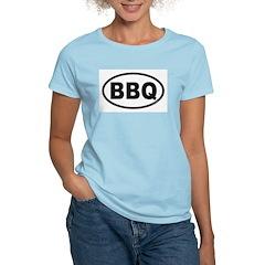 BBQ Euro Oval Women's Pink T-Shirt