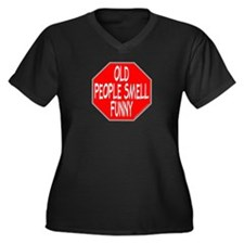 OLD PEOPLE SMELL FUNNY Women's Plus Size V-Neck Da