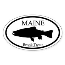 Maine Brook Trout Oval Decal