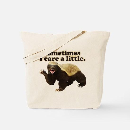Honey Badger Sometimes I Care Tote Bag