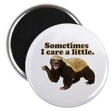 "Honey Badger Sometimes I Care 2.25"" Magnet (10 pac"