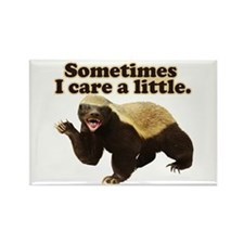 Honey Badger Sometimes I Care Rectangle Magnet