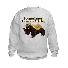 Honey Badger Sometimes I Care Sweatshirt