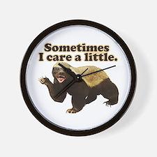 Honey Badger Sometimes I Care Wall Clock