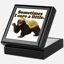 Honey Badger Sometimes I Care Keepsake Box