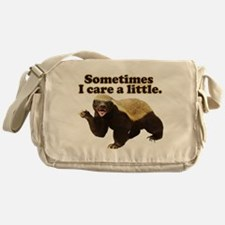 Honey Badger Sometimes I Care Messenger Bag