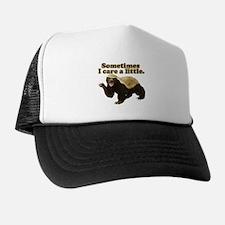 Honey Badger Sometimes I Care Trucker Hat