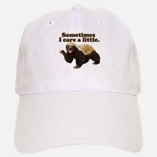 Honey Badger Sometimes I Care Baseball Baseball Cap