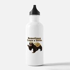 Honey Badger Sometimes I Care Water Bottle
