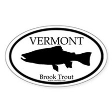Vermont Brook Trout Oval Decal