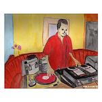 El DJ Booth Small Poster