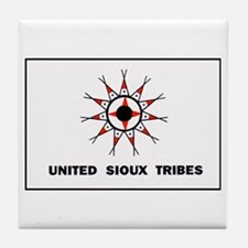 United Sioux Tribes Flag Tile Coaster
