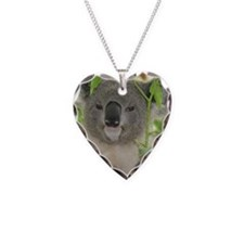 Helaine's Koala Bear Necklace Heart Charm