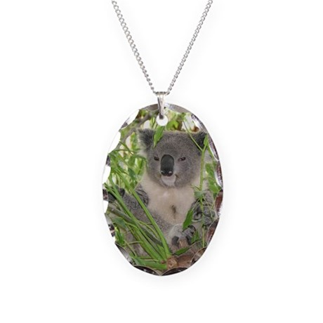 Helaine's Koala Bear Necklace Oval Charm