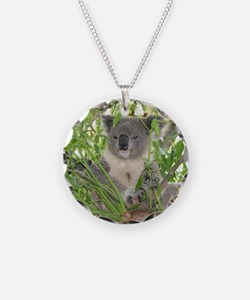 Helaine's Koala Bear Necklace Circle Charm