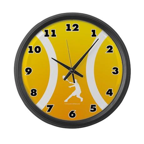 Large Tennis Wall Clock Sun