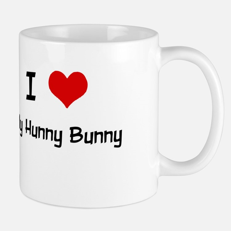 I LOVE MY HUNNY BUNNY Large Mugs