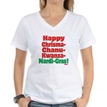 Happy HCCKMG! Women's V-Neck T-Shirt