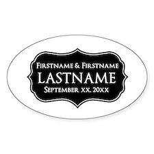 Personalized Wedding Nameplat Decal