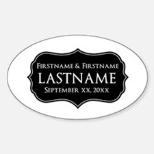 Personalized Wedding Nameplat Decal