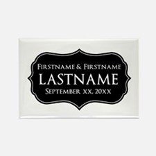 Personalized Wedding Nameplat Rectangle Magnet
