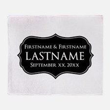 Personalized Wedding Nameplat Throw Blanket