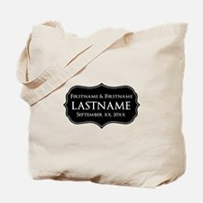 Personalized Wedding Nameplat Tote Bag