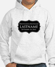 Personalized Wedding Nameplat Hoodie Sweatshirt