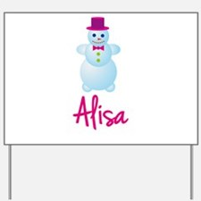 Alisa the snow woman Yard Sign