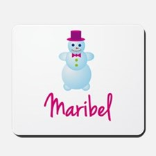 Maribel the snow woman Mousepad