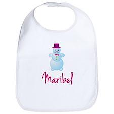 Maribel the snow woman Bib