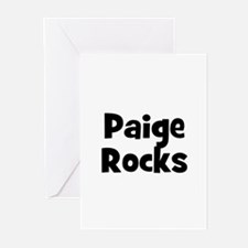 Paige Rocks Greeting Cards (Pk of 10)