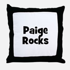 Paige Rocks Throw Pillow