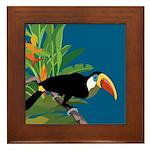 Toucan Jungle Framed Tile