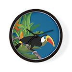 Toucan Jungle Wall Clock