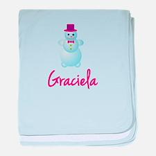 Graciela the snow woman baby blanket