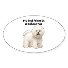Bichon Frise Oval Decal