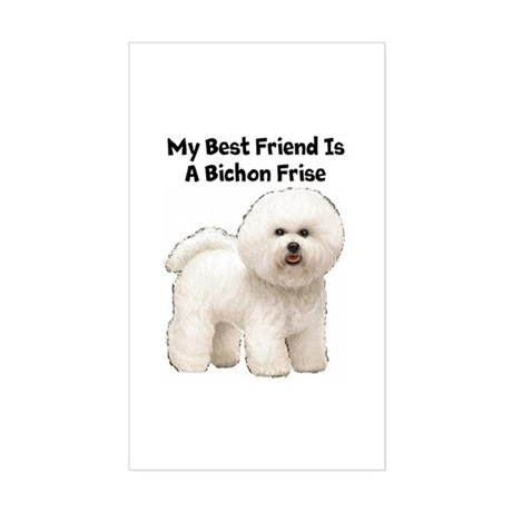 Bichon Frise Rectangle Sticker