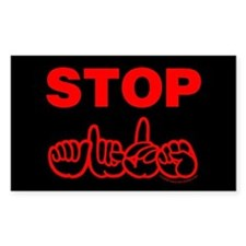 Stop AIDS Rectangle Decal