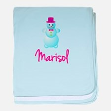 Marisol the snow woman baby blanket