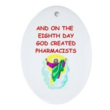 pharmacists Ornament (Oval)