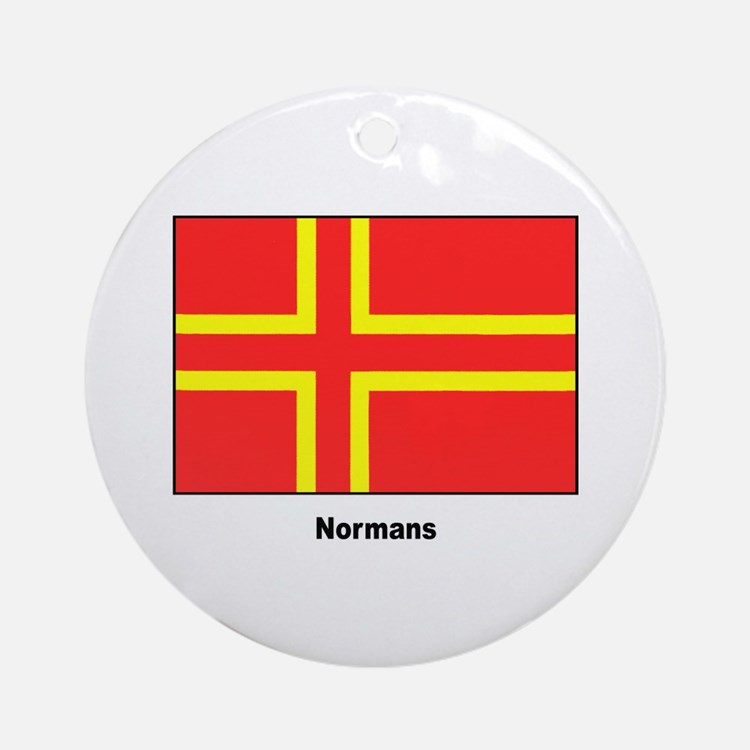 Norman Ancestry Flag Ornament (Round)