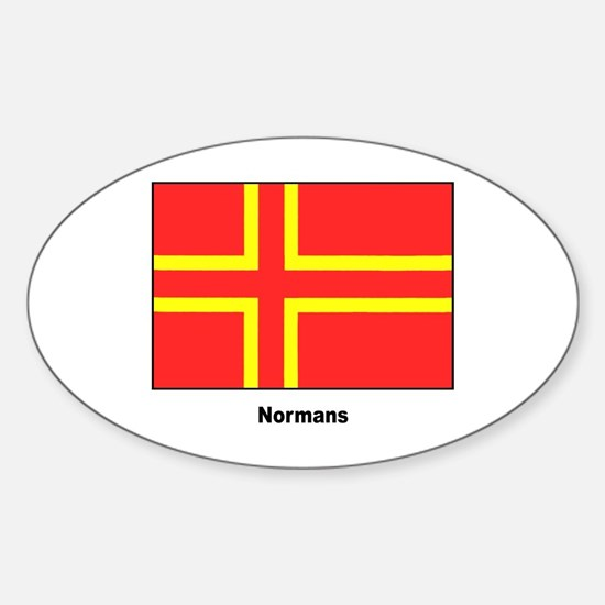 Norman Ancestry Flag Oval Decal